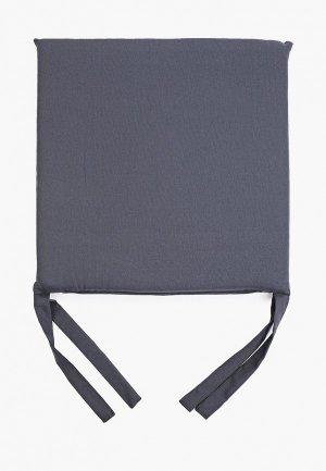 Подушка на стул Эго 40х40 см. Цвет: серый
