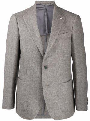 Вечерний пиджак LUIGI BIANCHI MANTOVA. Цвет: серый