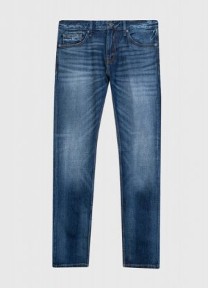Зауженные джинсы из переработанного хлопка O`Stin. Цвет: синий