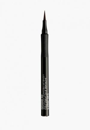 Подводка для глаз Gosh фломастер, 03 темно-коричневый. Цвет: прозрачный