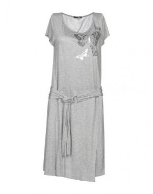 Платье до колена B.YU. Цвет: светло-серый