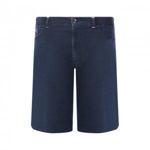 Джинсовые шорты Zilli. Цвет: синий
