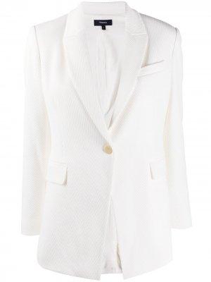 Пиджак строгого кроя с V-образным вырезом Theory. Цвет: нейтральные цвета