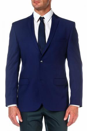 Пиджак mishelin. Цвет: синий, мелкая клетка