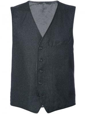 Жилетка на пуговицах Engineered Garments. Цвет: серый