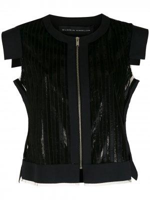 Блузка с вырезами Gloria Coelho. Цвет: черный