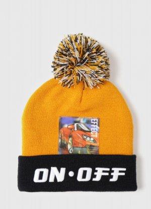 Вязаная шапка для мальчиков O`Stin. Цвет: горчичный