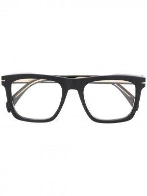 Очки в прямоугольной оправе Eyewear by David Beckham. Цвет: черный
