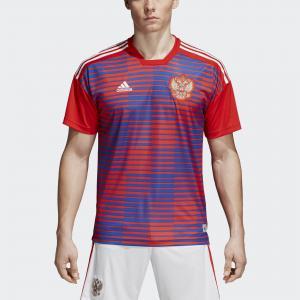 Домашняя предматчевая футболка сборной России Performance adidas. Цвет: красный