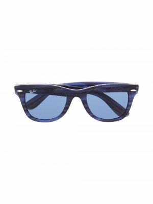 Солнцезащитные очки в квадратной оправе RAY-BAN JUNIOR. Цвет: синий