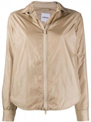 Куртка-рубашка Aspesi. Цвет: нейтральные цвета