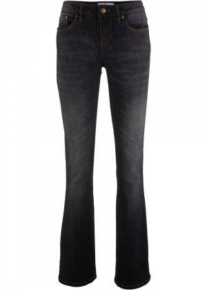 Расклешенные джинсы-стретч bonprix. Цвет: черный