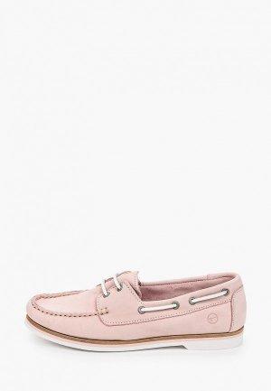 Топсайдеры Tamaris. Цвет: розовый