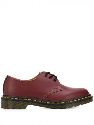 Туфли дерби из коллаборации с Dr. Martens Comme Des Garçons. Цвет: красный