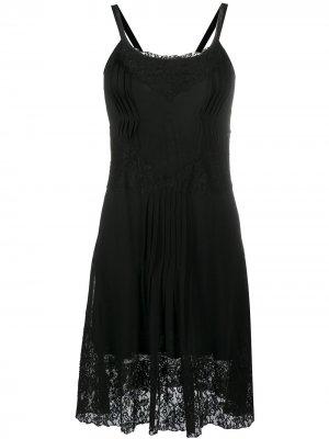 Кружевное платье 2000-х годов pre-owned Christian Dior. Цвет: черный