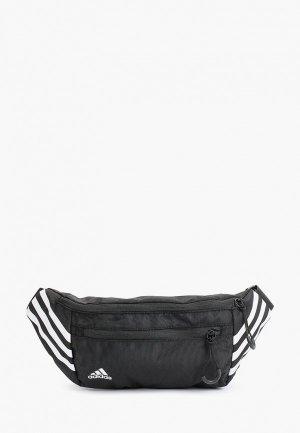 Сумка поясная adidas WAISTBAG LOGO. Цвет: черный
