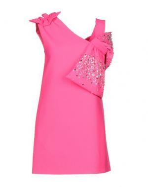 Короткое платье AU JOUR LE. Цвет: фуксия