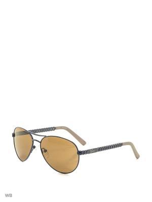 Солнцезащитные очки GU 0124T Q87 SI-35 GUESS. Цвет: синий, серый