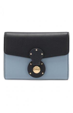 Кожаный кошелек Ralph Lauren. Цвет: синий