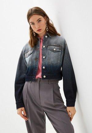 Куртка джинсовая Sportmax Code. Цвет: серый