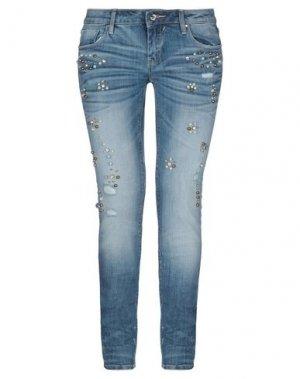Джинсовые брюки BLUEFEEL by FRACOMINA. Цвет: синий