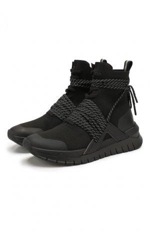 Текстильные кроссовки B-Troop Balmain. Цвет: черный