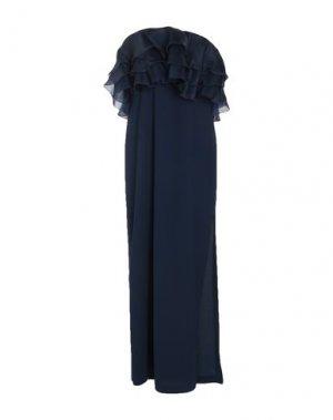 Длинное платье HANITA. Цвет: темно-синий