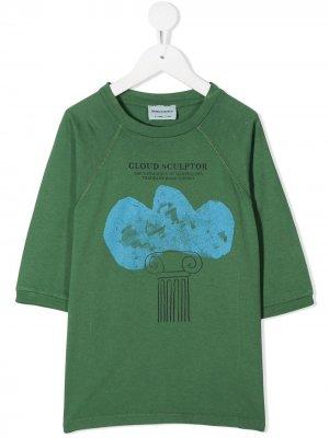 Толстовка с короткими рукавами и принтом Bobo Choses. Цвет: зеленый