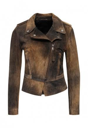 Куртка кожаная Diesel. Цвет: разноцветный