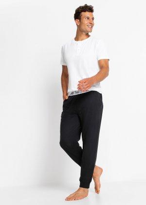 Штаны пижамные bonprix. Цвет: черный