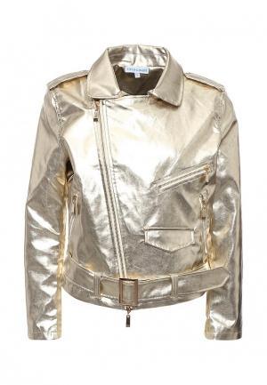 Куртка кожаная Imocean IM007EWSNN55. Цвет: золотой