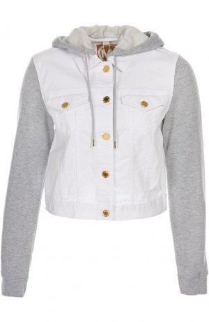 Куртка джинсовая с капюшоном Michael Kors. Цвет: белый