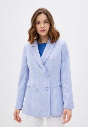 Пиджак Снежная Королева. Цвет: голубой