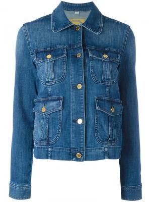 Джинсовая куртка с карманами Michael Kors. Цвет: синий