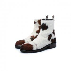 Кожаные ботинки Ann Demeulemeester. Цвет: коричневый