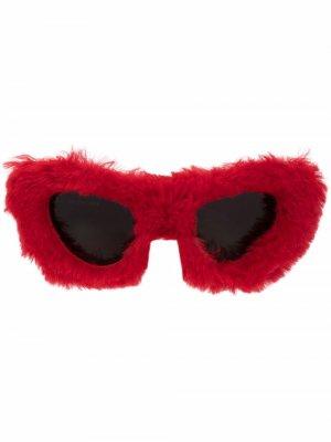 Fluffy Cat cay eye-frame sunglasses Balenciaga. Цвет: красный
