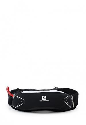 Пояс для бега Salomon BAG AGILE 500 BELT SET. Цвет: черный