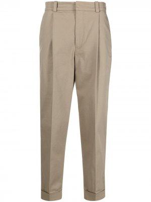 Зауженные брюки Acne Studios. Цвет: нейтральные цвета