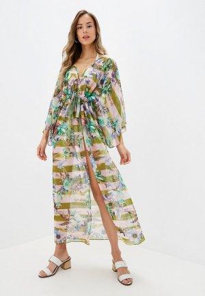 Платье пляжное Donatello Viorano. Цвет: розовый