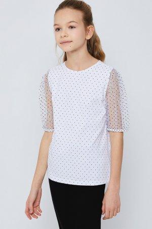 Блузка SELA. Цвет: 1, белый