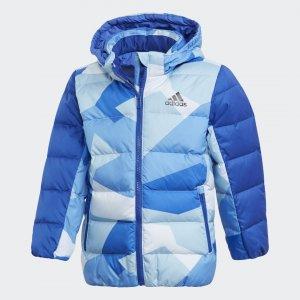 Пуховик Allover Print Performance adidas. Цвет: синий