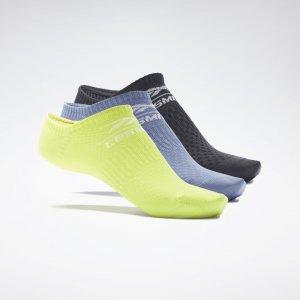 Носки LES MILLS® Low-Cut (3 пары) Reebok. Цвет: multi / acid yellow / blue slate