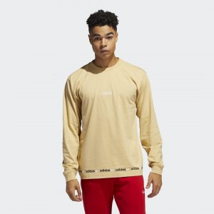 Лонгслив Linear Repeat Originals adidas. Цвет: бежевый