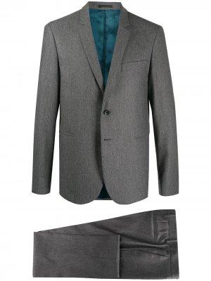 Костюм с однобортным пиджаком PS Paul Smith. Цвет: серый