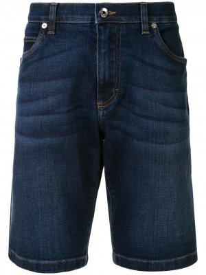 Джинсовые шорты с эффектом потертости Dolce & Gabbana. Цвет: синий
