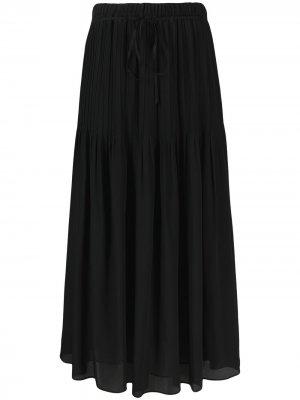 Плиссированная юбка Alysi. Цвет: черный