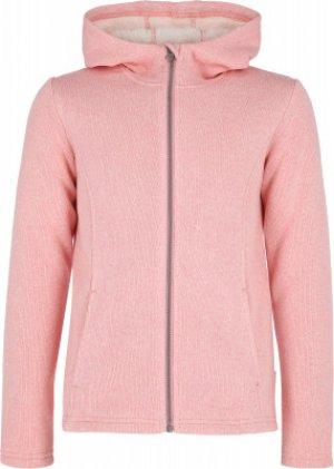 Джемпер флисовый для девочек , размер 146 Outventure. Цвет: розовый