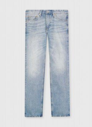 Премиальные прямые джинсы O`Stin. Цвет: светло-голубой