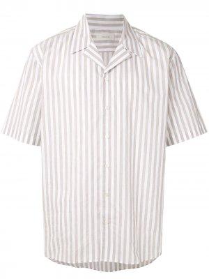 Полосатая рубашка с короткими рукавами Cerruti 1881. Цвет: белый