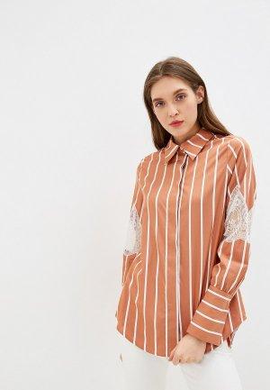 Рубашка Beatrice.B. Цвет: коричневый